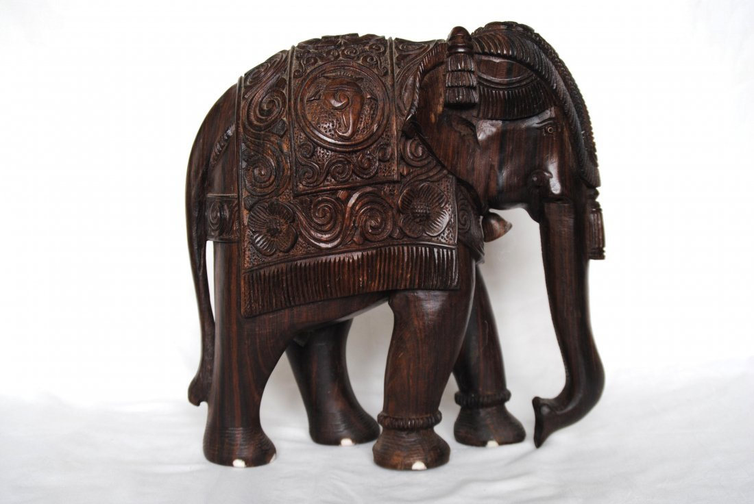 Asia  Wood Carving Elephant - 6