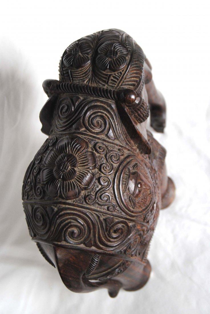 Asia  Wood Carving Elephant - 8