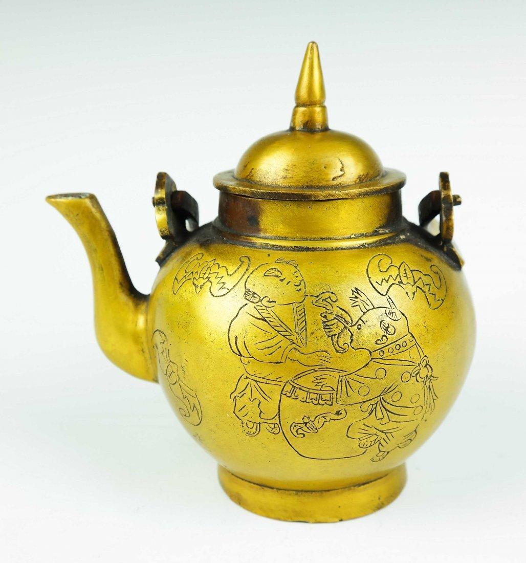 bronze teapot