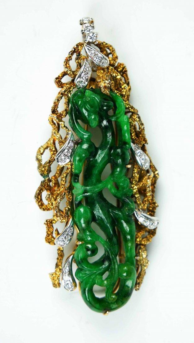 a jade 18k pendant