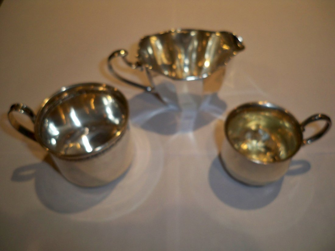 Sterling 3pc Small Pitcher/Creamer Lot