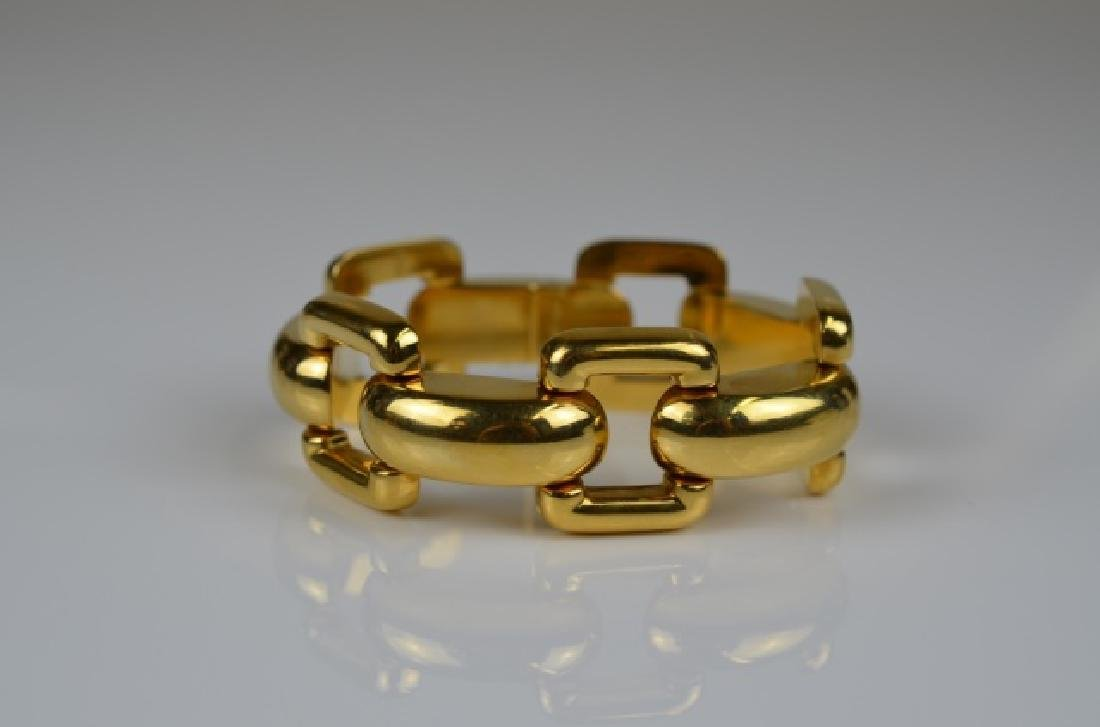 YELLOW GOLD LARGE LINK BRACELET - 2