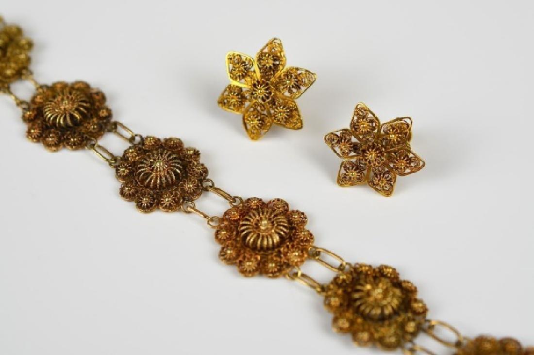 ANTIQUE YELLOW GOLD THREADED JEWELLERY