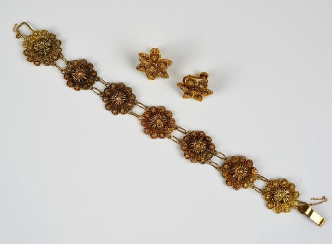 ANTIQUE YELLOW GOLD THREADED JEWELLERY - 2