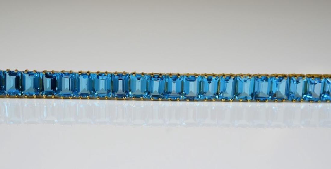 GOLD & BLUE TOPAZ LINE BRACELET