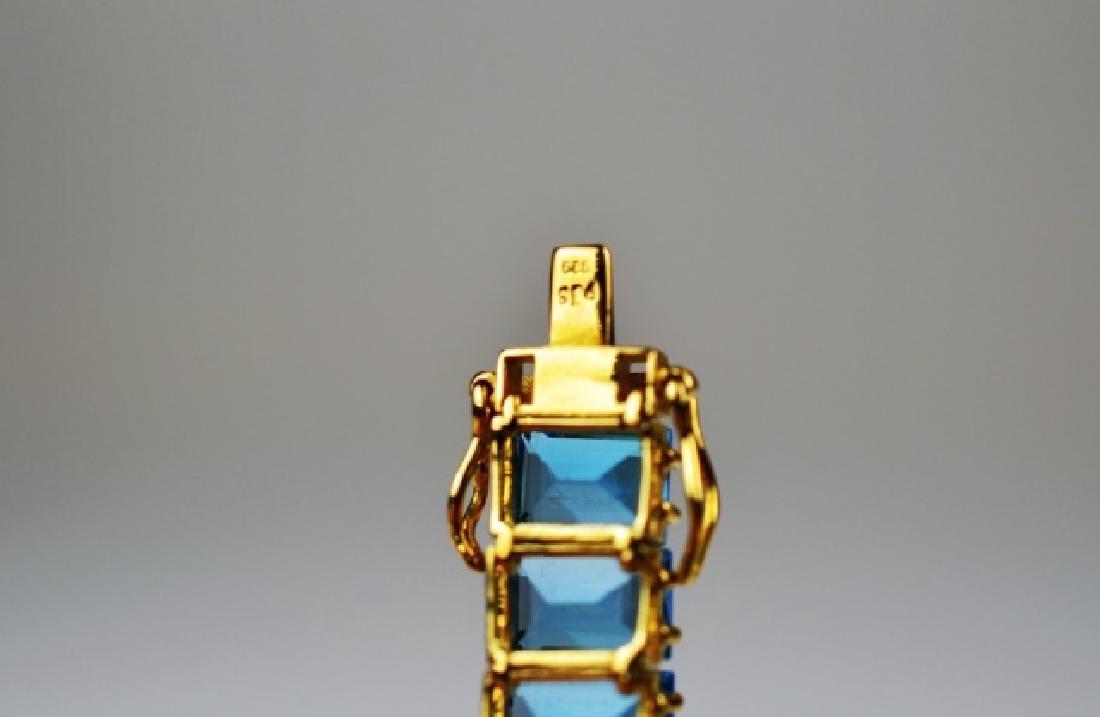 GOLD & BLUE TOPAZ LINE BRACELET - 3