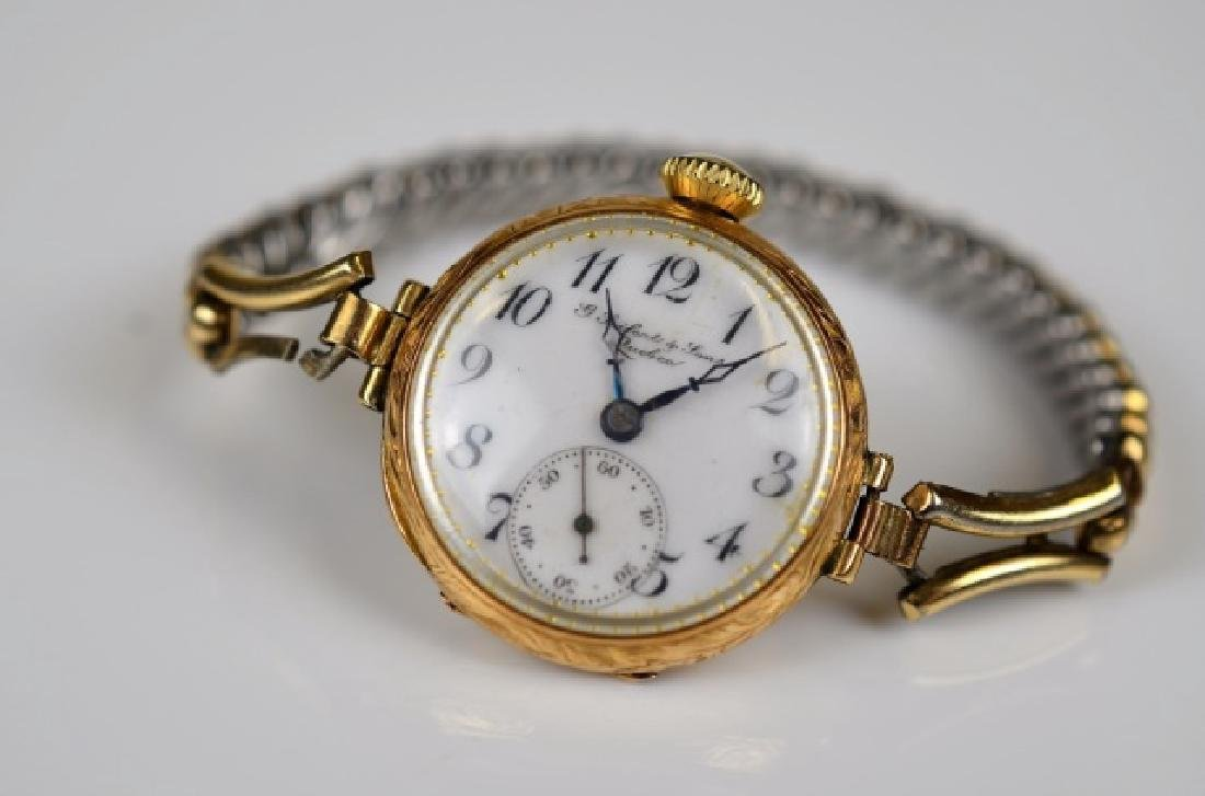 ANTIQUE YELLOW GOLD WATCH - 2