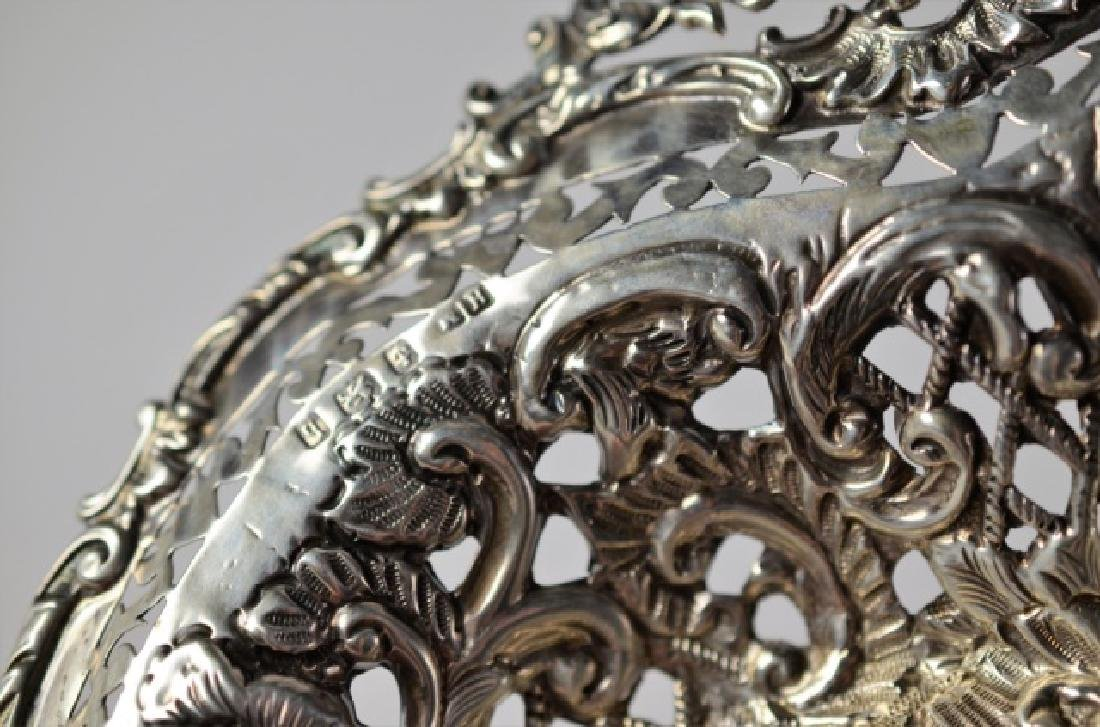 EDWARDIAN RETICULATED SILVER DISH - 4