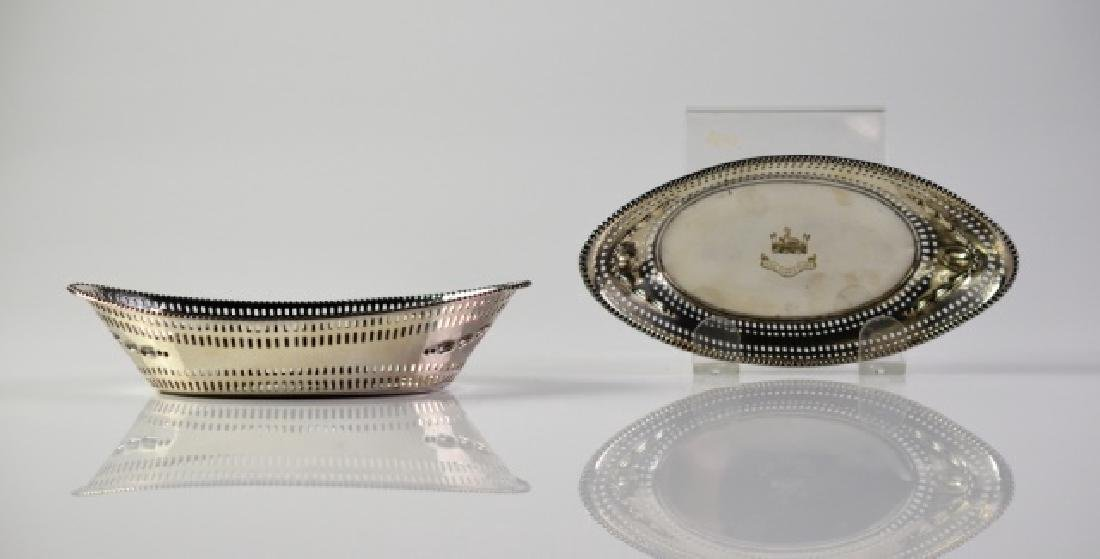 PAIR OF ENGLISH SILVER DISHES