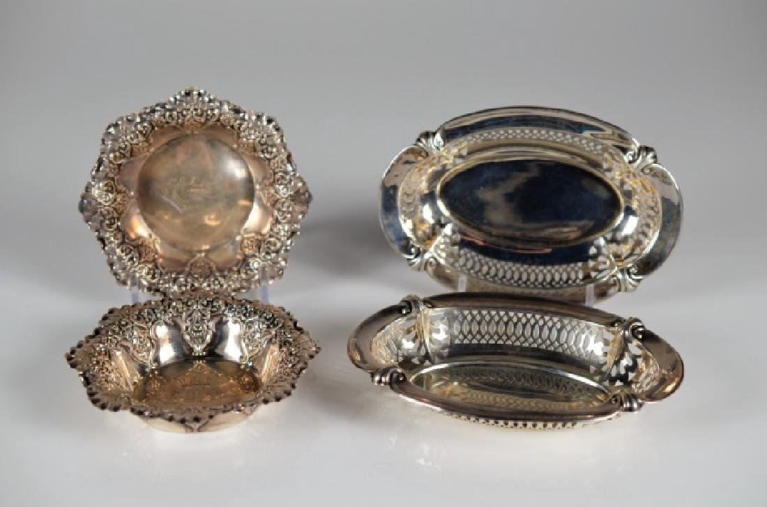 LOT OF ENGLISH SILVER DISHES