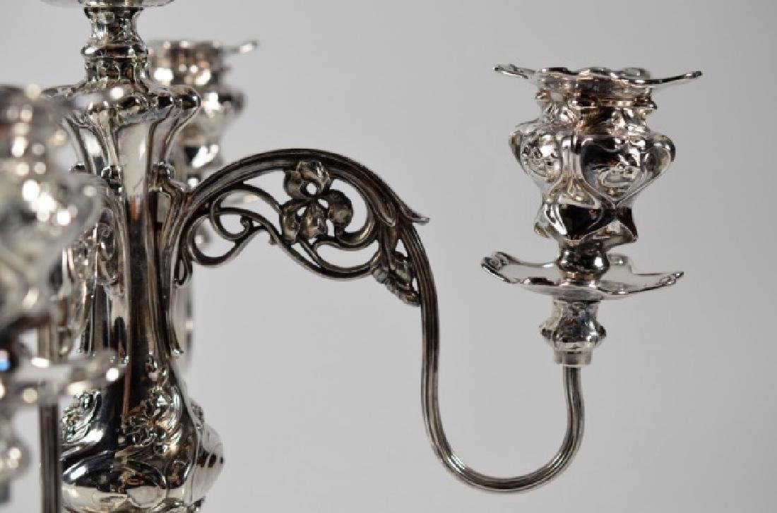LARGE AMERICAN SILVER PLATE CANDELABRA - 2