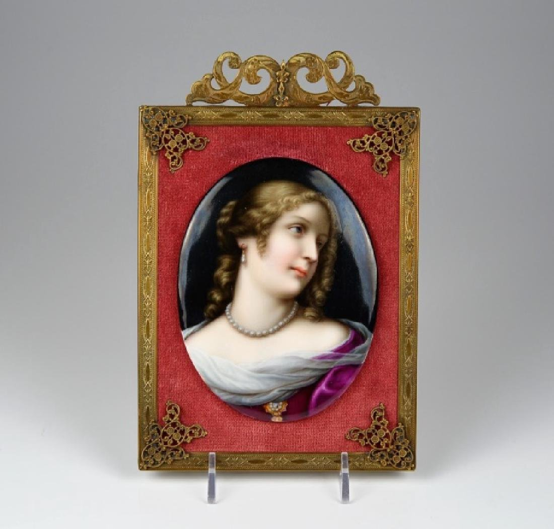CONTINENTAL HAND PAINTED PORCELAIN PLAQUE