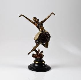 AFTER ERTE COLD PAINTED BRONZE