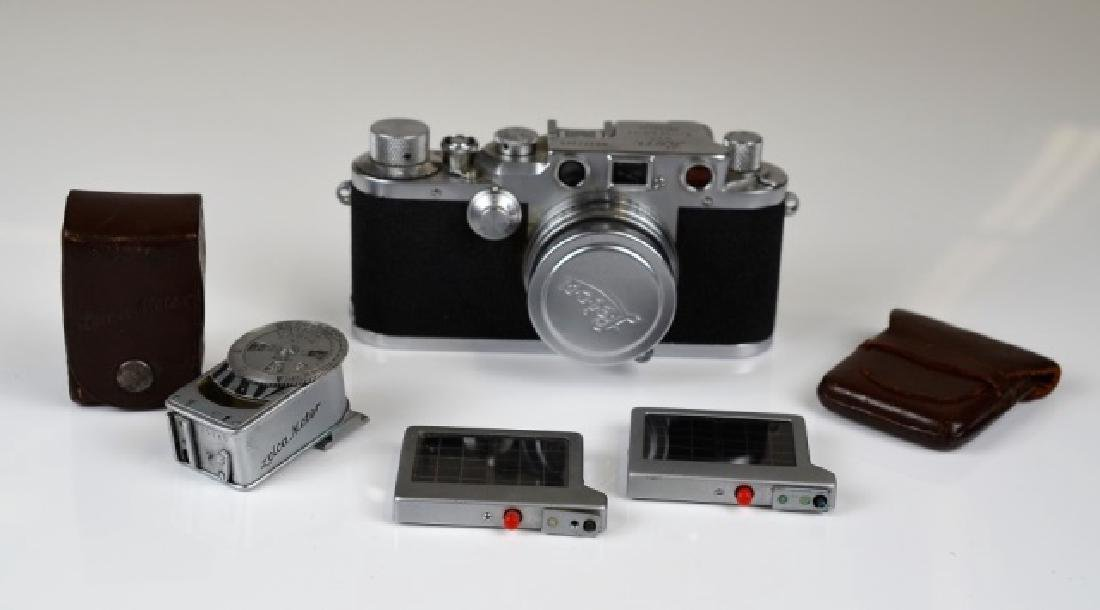 LEICA 111C CAMERA, LENS AND ACCESSORIES