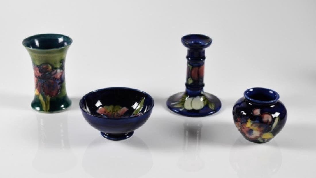 FOUR PIECES OF MOORCROFT POTTERY - 2