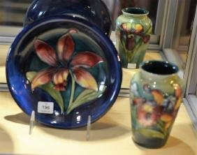 TWO PIECES OF MOORCROFT POTTERY