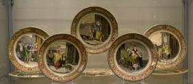 SET OF EIGHT ENGLISH SERIES WARE DISHES