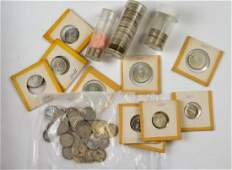 LOT OF CANADIAN  AMERICAN SILVER COINS