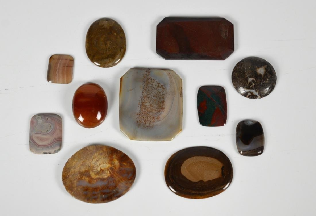LOT OF AGATE & STONE SPECIMENS