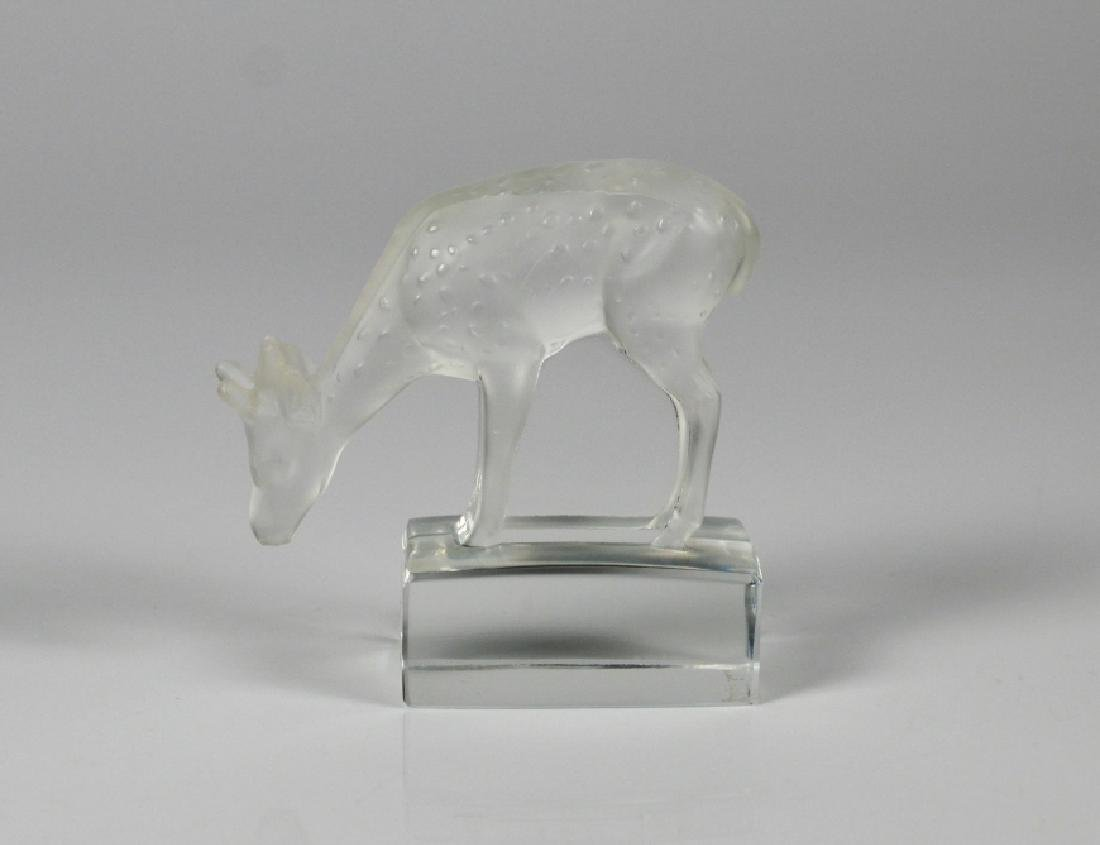 LALIQUE FRANCE GLASS PAPERWEIGHT