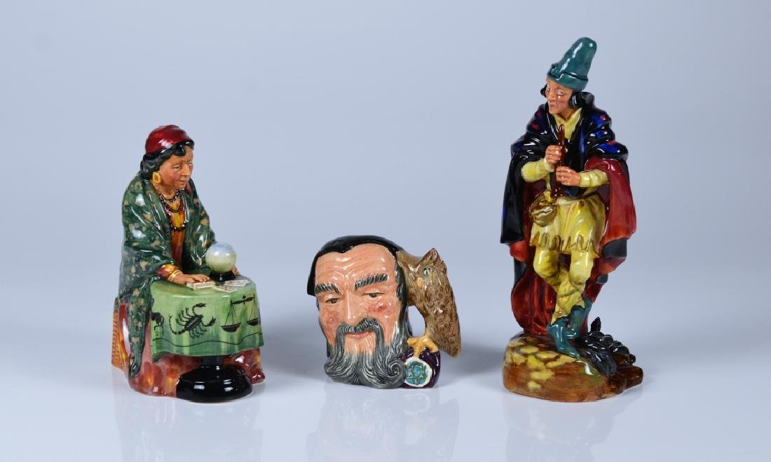 TWO ROYAL DOULTON FIGURES AND A TOBY JUG