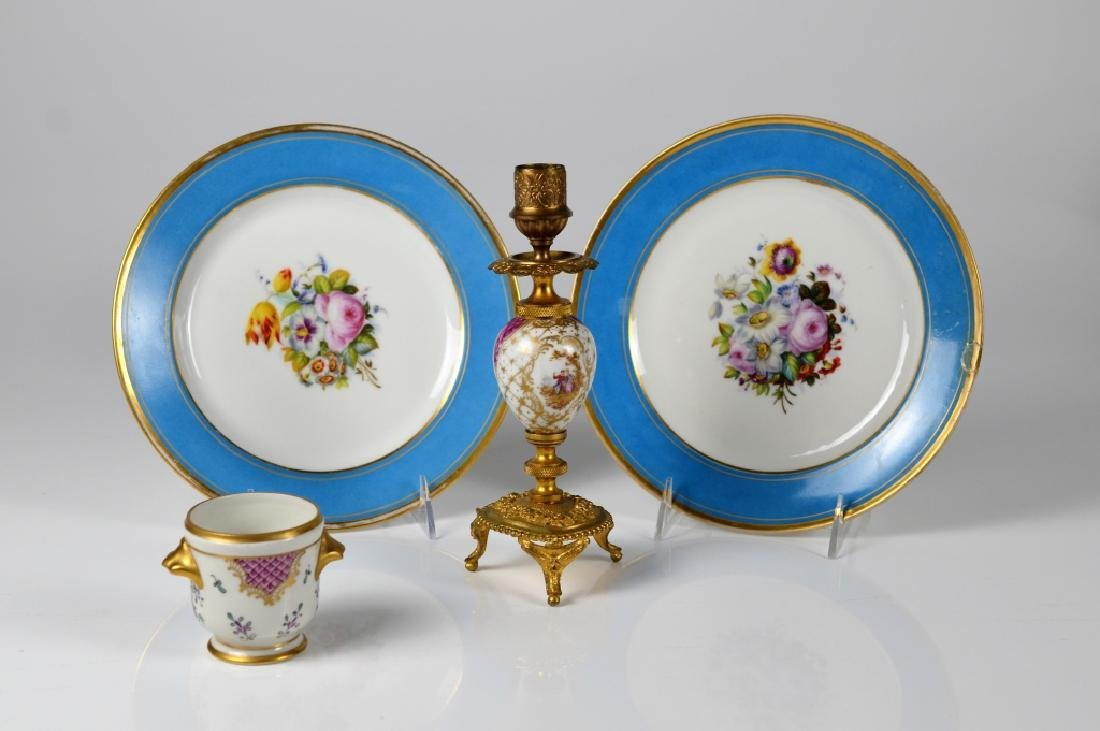 LOT OF HAND PAINTED FRENCH PORCELAIN