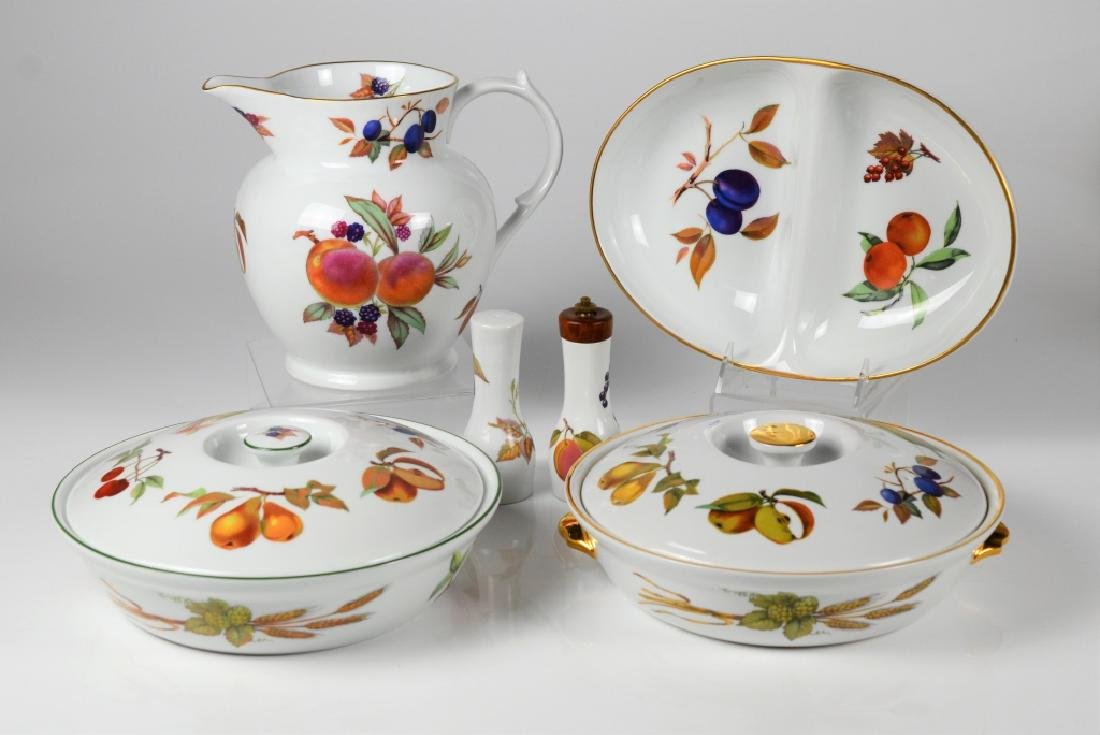 LOT OF WORCESTER EVESHAM SERVING PIECES