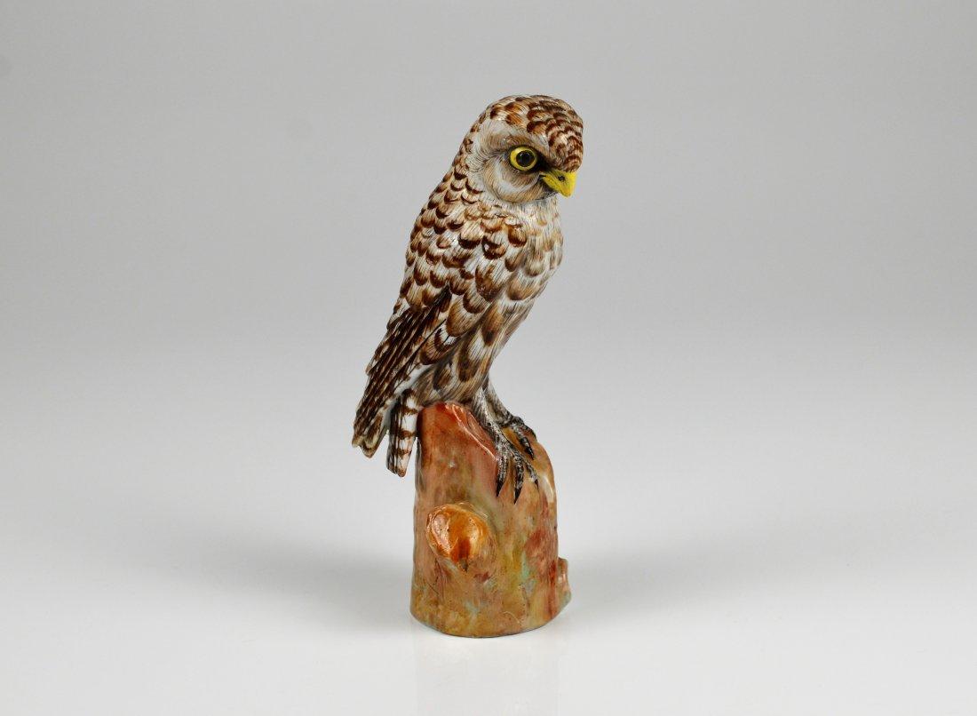 CONTINENTAL PORCELAIN FIGURE OF AN OWL