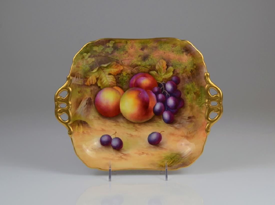 ROYAL WORCESTER HAND PAINTED DISH