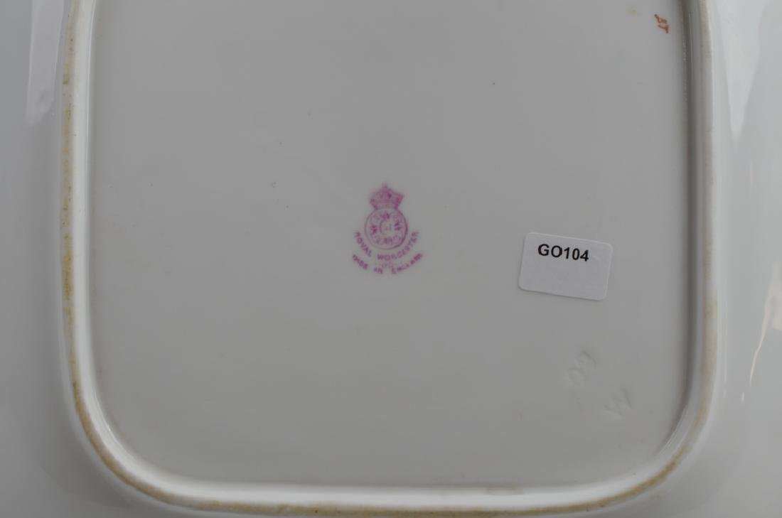 ROYAL WORCESTER HAND PAINTED DISH - 3
