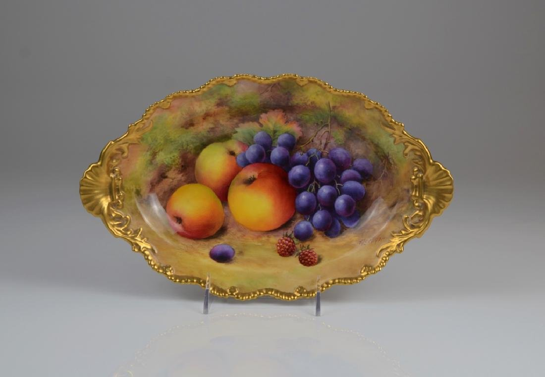 ROYAL WORCESTER HAND PAINTED PORCELAIN TRAY