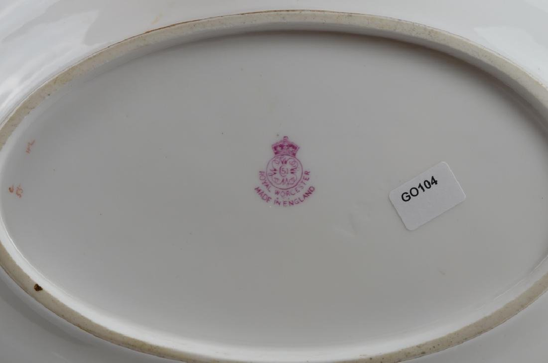 ROYAL WORCESTER HAND PAINTED PORCELAIN TRAY - 3