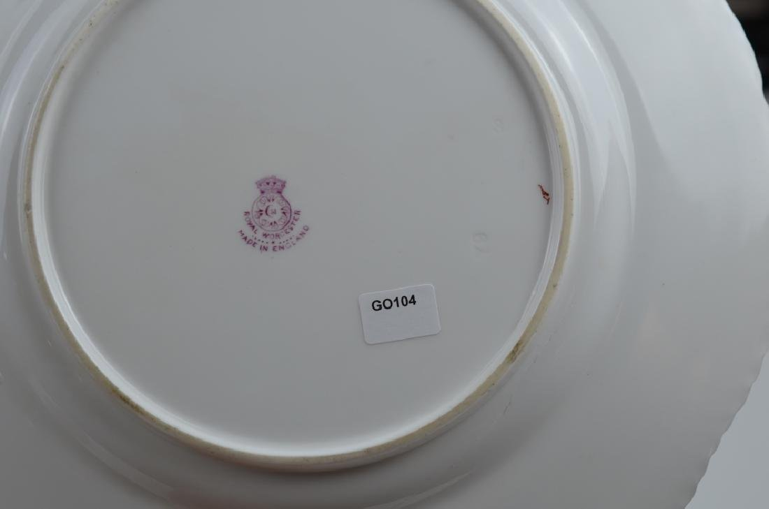 TWO ROYAL WORCESTER HAND PAINTED PORCELAIN PLATES - 6