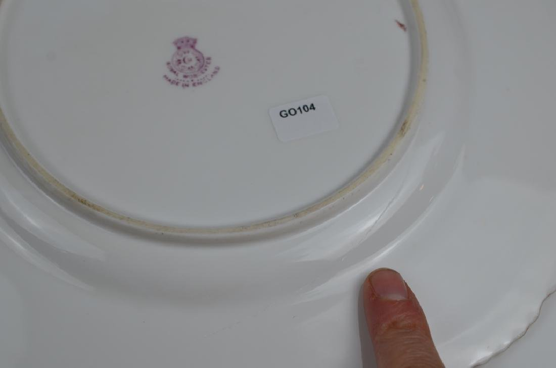 TWO ROYAL WORCESTER HAND PAINTED PORCELAIN PLATES - 7