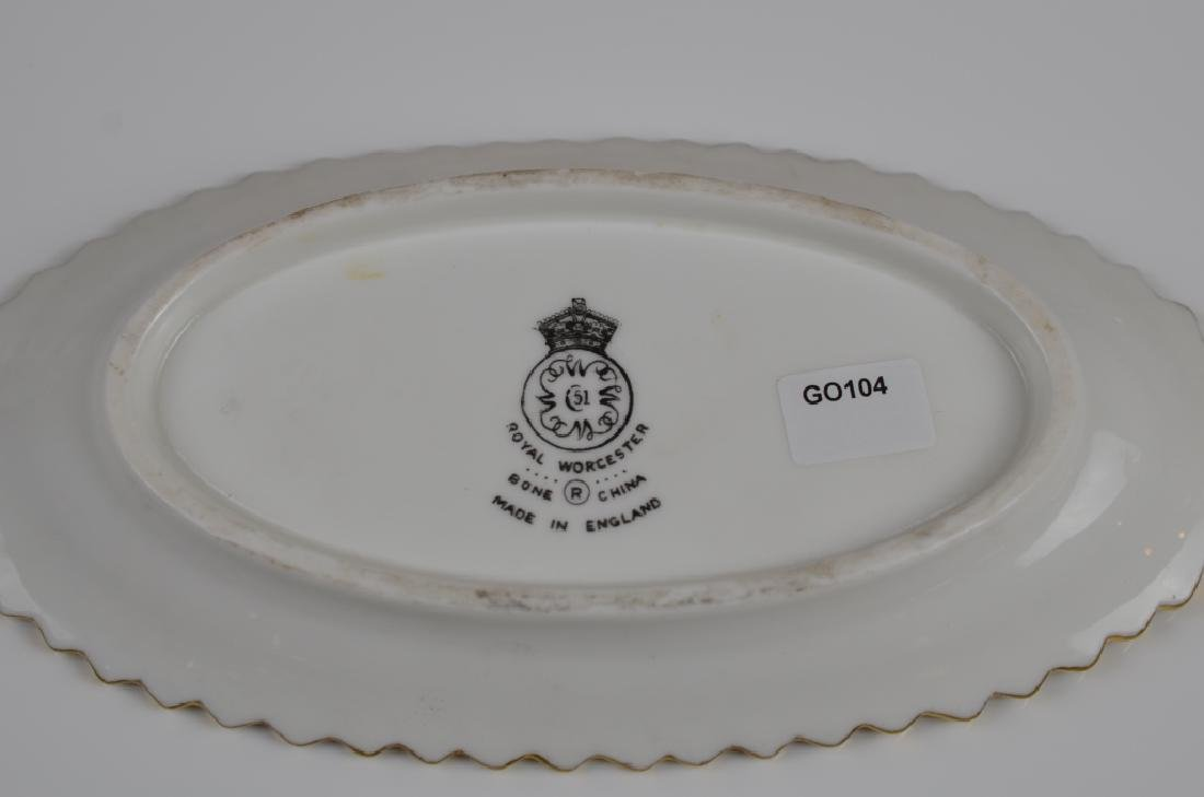 TWO ROYAL WORCESTER HAND PAINTED PORCELAIN PCS - 4