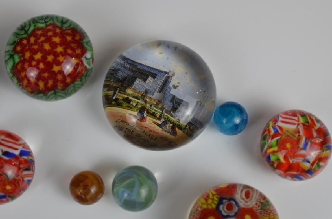 TWO ENGLISH CUSHION SHAPED GLASS PAPERWEIGHTS - 3