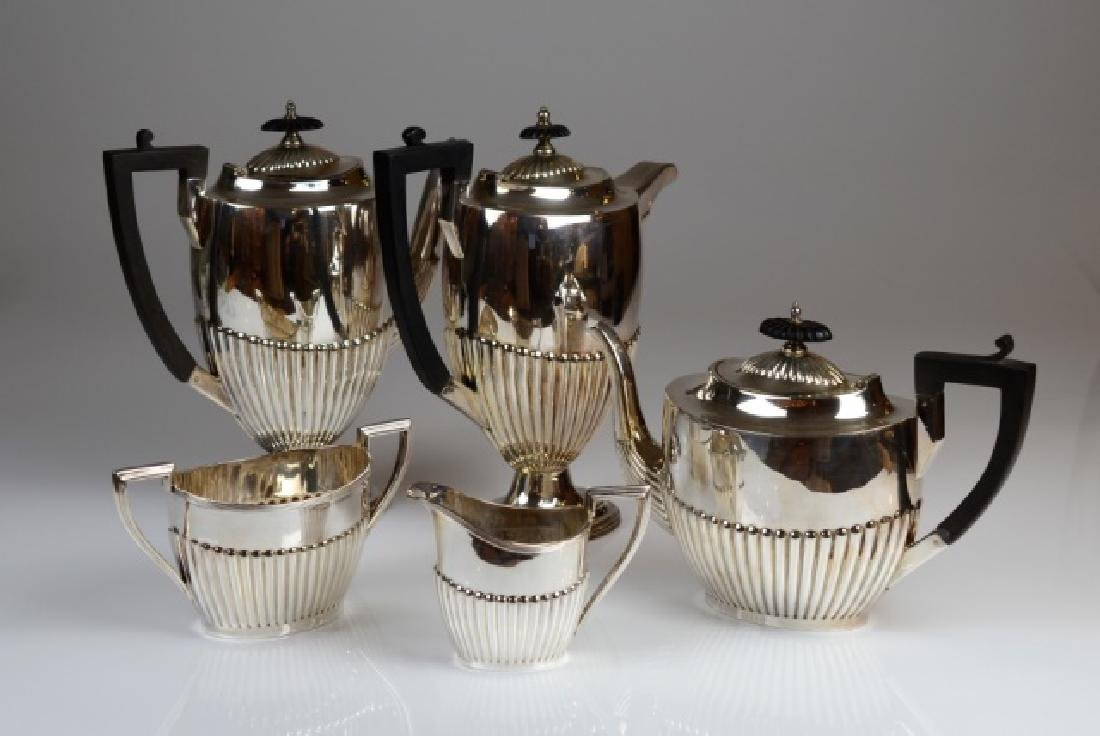 ENGLISH SILVER PLATE TEA AND COFFEE SET