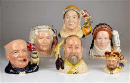 LOT OF ROYAL DOULTON PORCELAIN TOBY JUGS