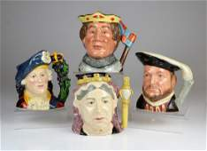 FOUR ROYAL DOULTON PORCELAIN TOBY JUGS