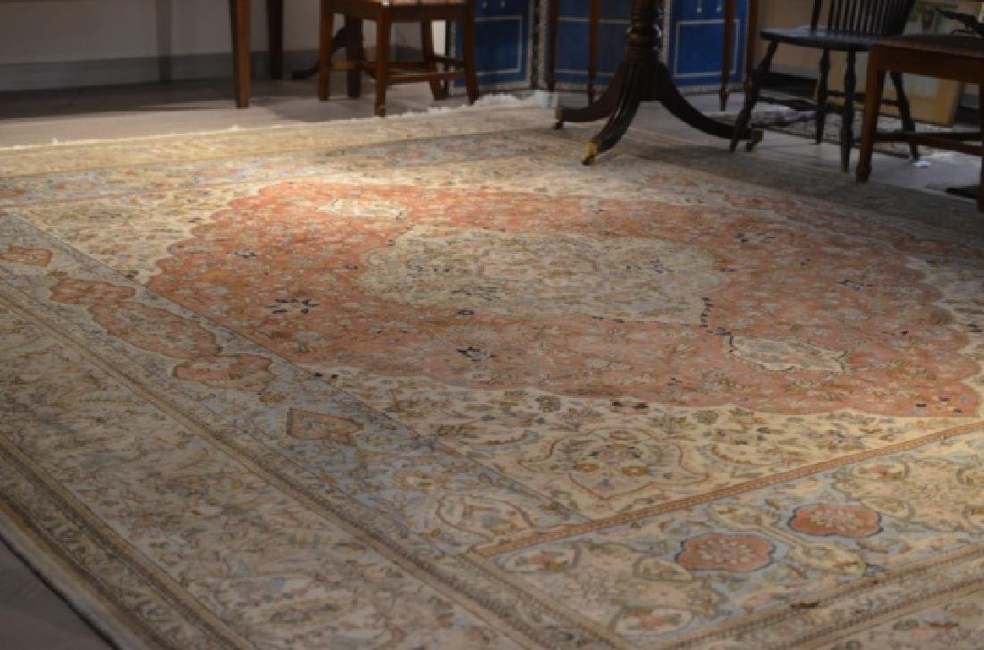 Large signed hand knotted Persian carpet