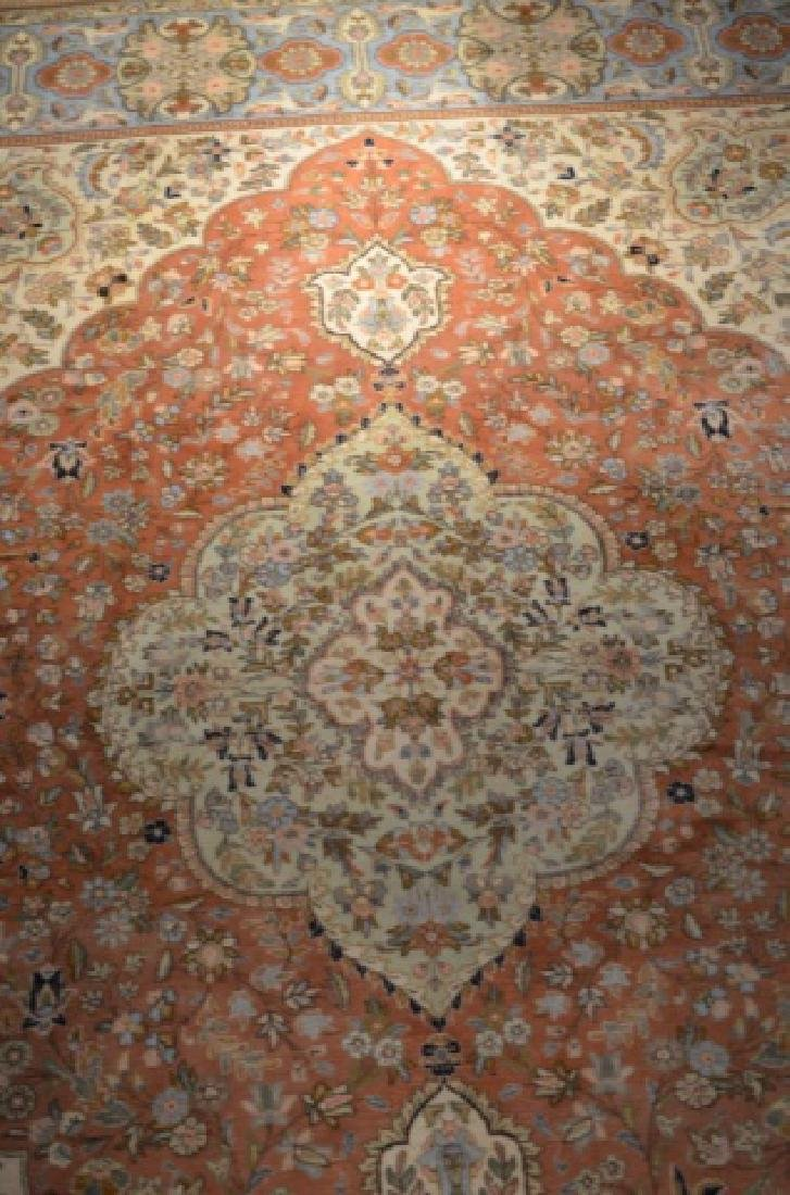 Large signed hand knotted Persian carpet - 2