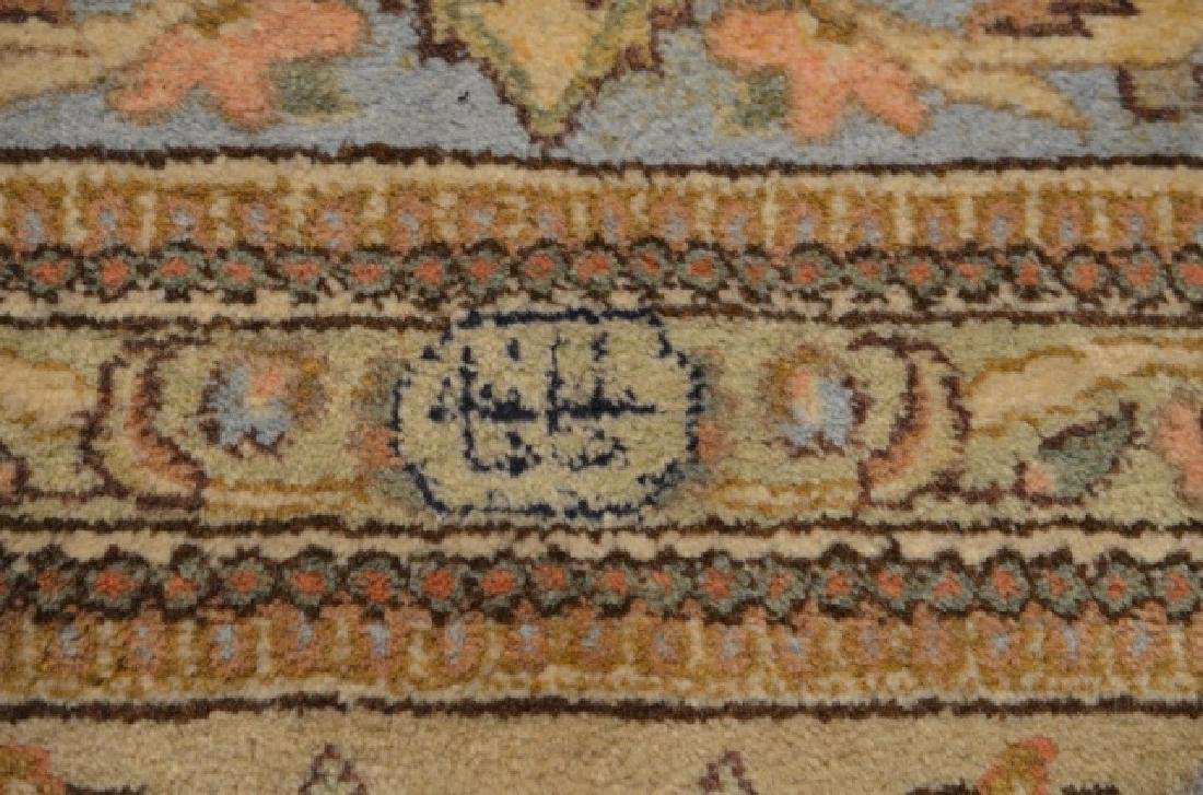 Large signed hand knotted Persian carpet - 3