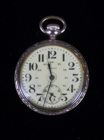 Swiss 21 jewel pocket watch by Waldon