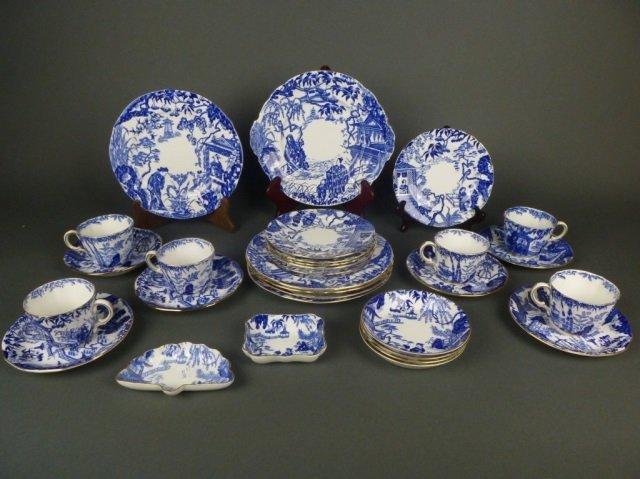 RCD Blue Mikado pattern dinnerware, 26 pcs.