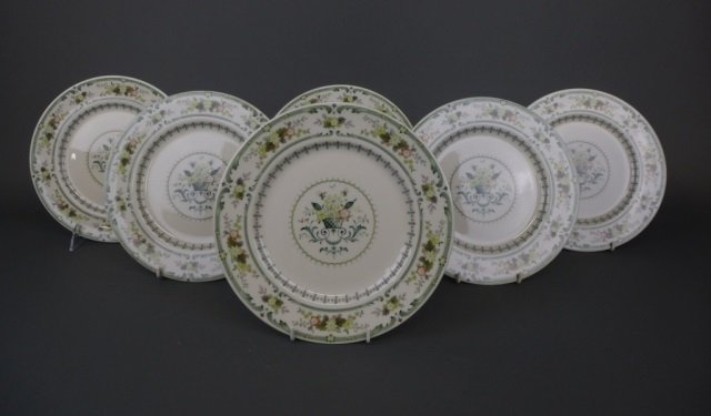 Set of Doulton Provencal pattern dinner plates