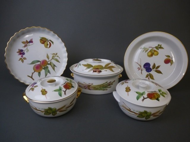 5 Royal Worcester Evesham servers