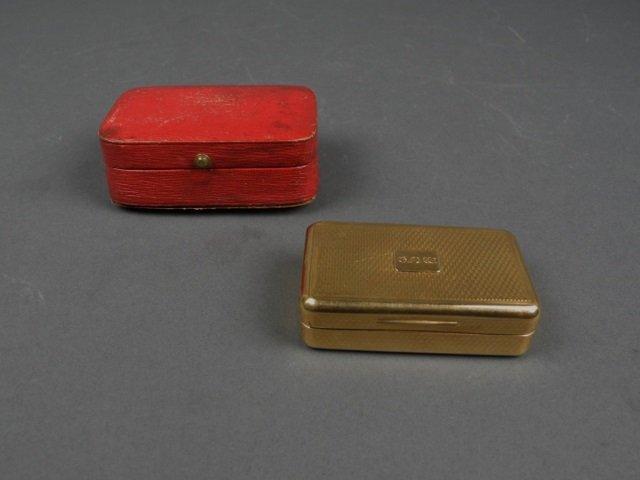 Georgian 18 karat gold snuff box