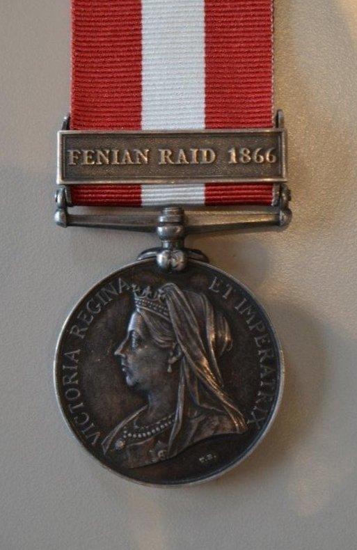 1866 Fenian Raid War Medal