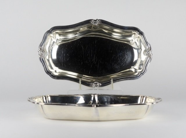 PAIR OF FRENCH SILVER OPEN ENTREE DISHES