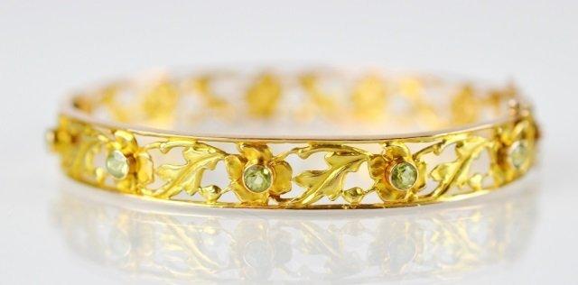 YELLOW GOLD FILIGREE BRACELET